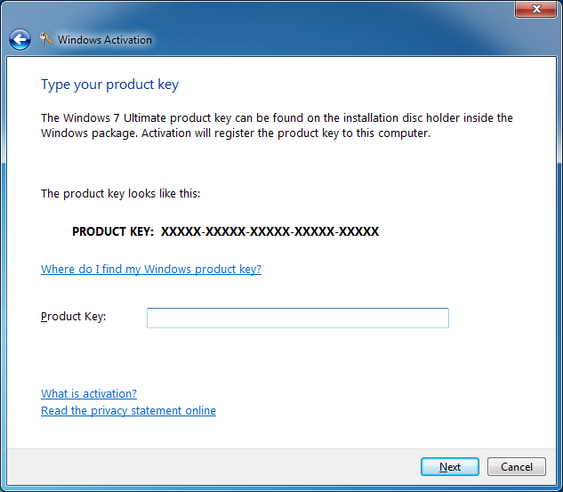 Free Windows 7 Product Key for Windows 7